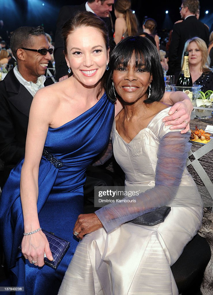 Actresses Diane Lane (L) and Cicely Tyson attend The 18th Annual Screen Actors Guild Awards broadcast on TNT/TBS at The Shrine Auditorium on January 29, 2012 in Los Angeles, California. (Photo by Dimitrios Kambouris/WireImage) 22005_008_DK_0262.JPG