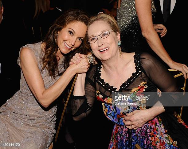 Actresses Diane Lane and Meryl Streep attend the 2014 AFI Life Achievement Award A Tribute to Jane Fonda at the Dolby Theatre on June 5 2014 in...