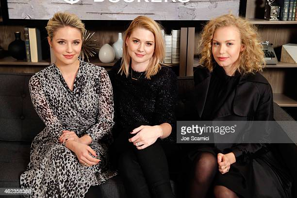 Actresses Dianna Agron Alexandra Breckenridge and Penelope Mitchell attend The Variety Studio At Sundance Presented By Dockers Day 4 on January 27...