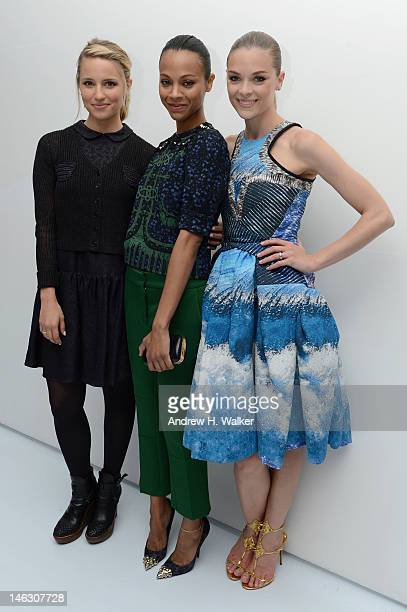 Actresses Dianna Agron, Zoe Saldana, and Jaime King attend the Persol Magnificent Obsessions exhibition honoring Arianne Phillips, Patricia Clarkson,...