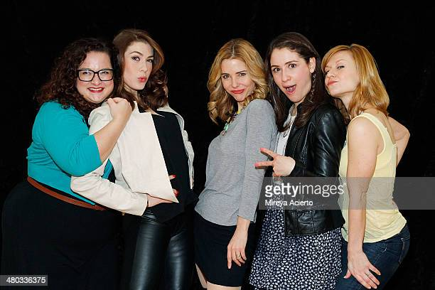 Actresses Dierdre Friel Kate Loprest Kerry Butler Allison Strong and Megan Sikora attend the Under My Skin Cast Meet Greet on March 24 2014 in New...