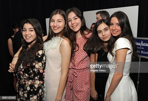 Actresses Doga Zeynep Doguslu Ilayda Akdogan Tugba Sunguroglu Gunes Sensoy Elit Iscan attend The Hollywood Reporter's 4th Annual Nominees Night at...