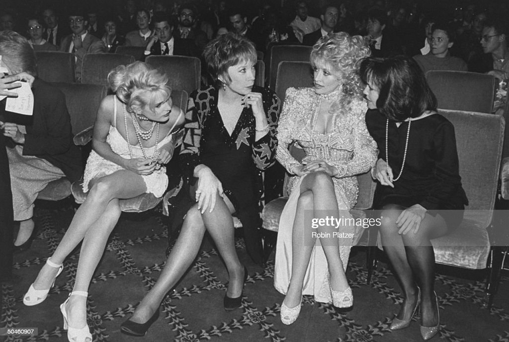 Actresses Dolly Parton, Sally Field, Shirley MacLaine, and Daryl Hannah at the premiere of their motion picture Steel Magnolias.