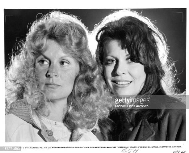 Actresses Dorothy Tristan and Ann Wedgeworth pose for the Warner Bros movie 'Scarecrow' in 1973