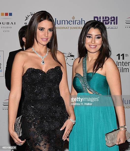 Actresses Dorra and Ayten Amer attend the 'Cairo Time' premiere during day six of the 11th Annual Dubai International Film Festival held at the...