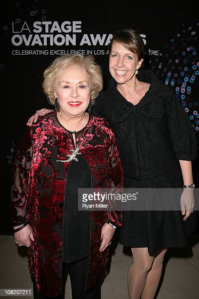 Actresses Dorris Roberts and Monica Horan pose during the LA Stage Alliance Ovation Awards at the Thousand Oaks Civic Arts Center on January 17 2011...