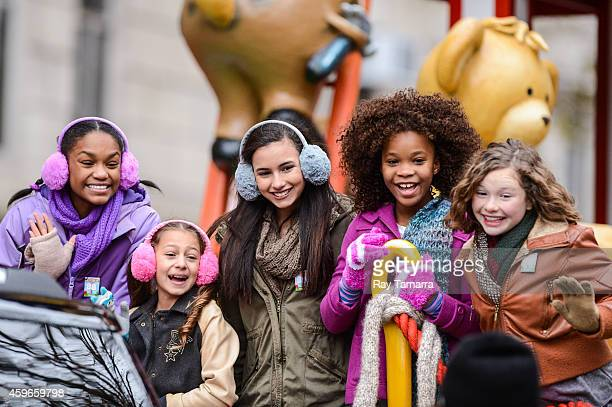 Actresses Eden DuncanSmith Nicolette Pierini Amanda Troya Quvenzhane Wallis and Zoe Margaret Colletti attends the 88th Annual Macys Thanksgiving Day...