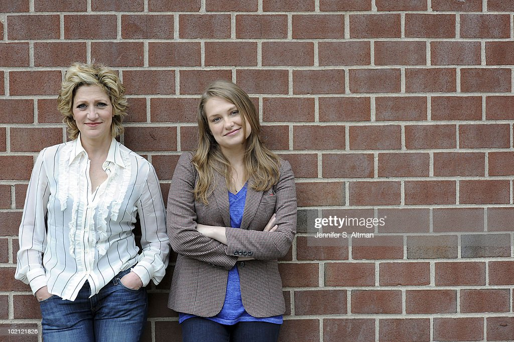 Actresses Edie Falco and Merritt Wever pose at a portrait session for the Los Angeles Times in New York, NY on June 9, 2010. (Photo by Jennifer S. Altman/ Contour by Getty Images).