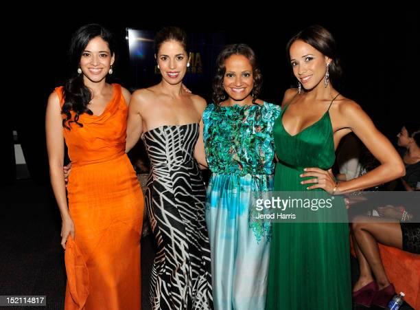 Actresses Edy Ganem Ana Ortiz Judy Reyes and Dania Ramirez attend the 2012 NCLR ALMA Awards at Pasadena Civic Auditorium on September 16 2012 in...