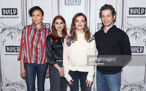 Actresses Eisa Davis Aya Cash Gillian Jacobs and director Thomas Kail attend the Build Series to discuss Kings at Build Studio on February 14 2018 in...