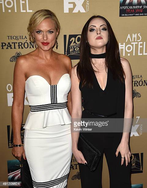 """Actresses Elaine Hendrix and Elizabeth Gillies attend the premiere screening of FX's """"American Horror Story: Hotel"""" at Regal Cinemas L.A. Live on..."""