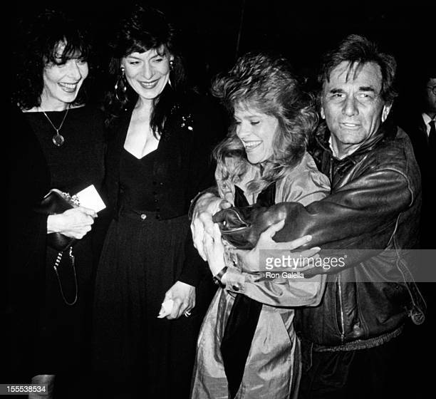Actresses Elaine May, Jeannie Berlin, actor Peter Falk and actress Laurie Jones attend the premiere of In The Spirit on April 3, 1990 at Loew's Tower...
