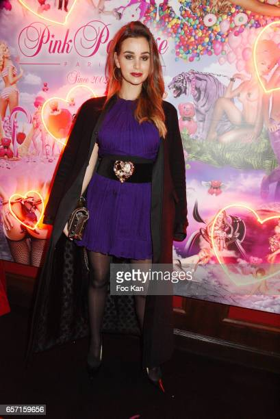 Actresses Elisa Bachir Bey attends Pink Paradise Club 15th Anniversary on March 23 2017 in Paris France