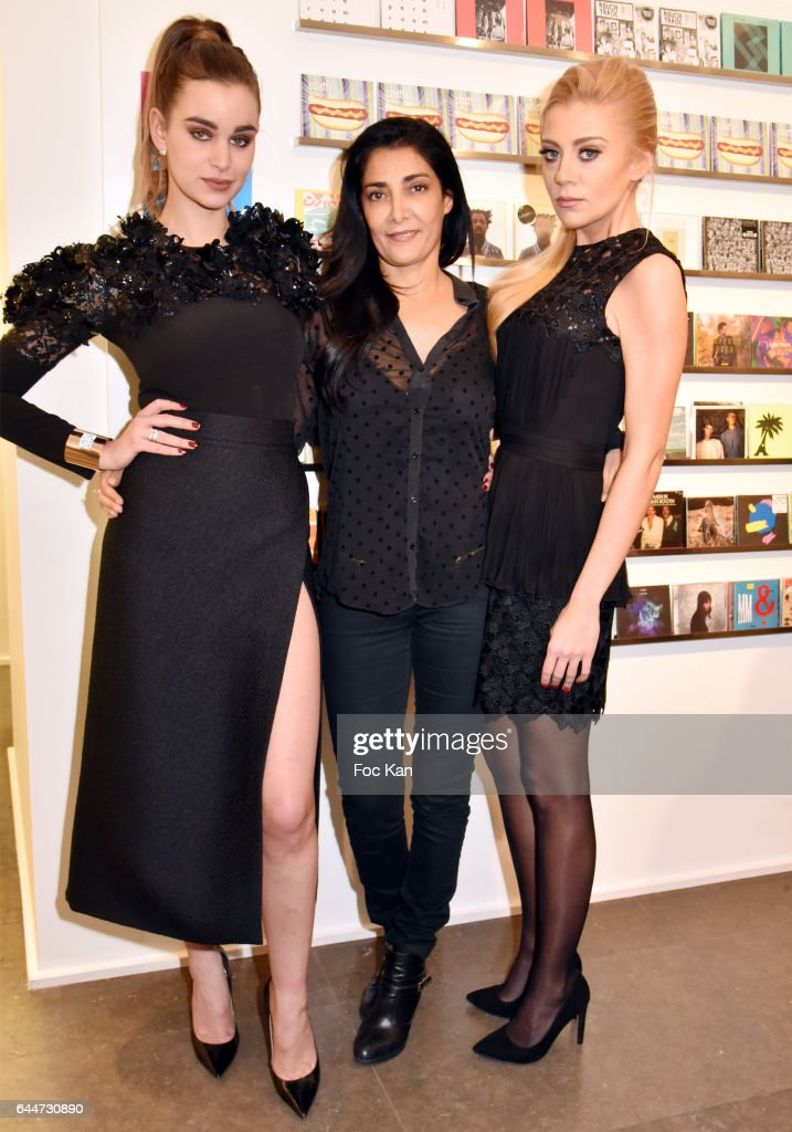 Actresses Elisa Bachir Bey, Fatima Adoum and Julia Battaia attend 'Facade16' Magazine Issue Launch at Colette on February 23, 2017 in Paris, France.