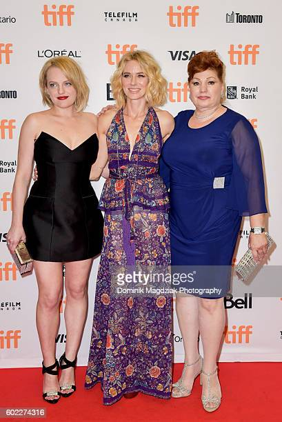 Actresses Elisabeth Moss Naomi Watts and Linda Wepner attend 'The Bleeder' premiere during the 2016 Toronto International Film Festival at the...