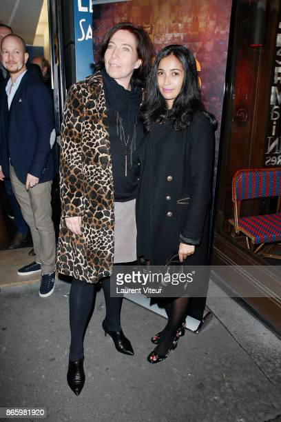 Actresses Elise Larnicol and Nabiha Akkari attends 'Alphonse President' Screening the new series of OCS at Cinema L'Etoile Saint Germain on October...