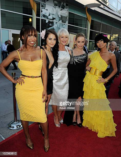 Actresses Elise Neal Scout TaylorCompton Helen Mirren Taryn Manning and Bai Ling arrive at the premiere of E1 Entertainment's Love Ranch at the...