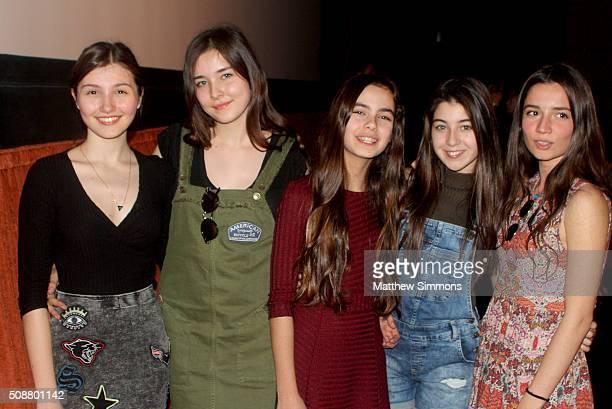 Actresses Elit Iúsücan Doga Zeynep Doguslu Tugba Sunguroglu Günes Sensoy and Ilayda Akdogan attend a screening of Mustang at the Metro 3 at the 31th...