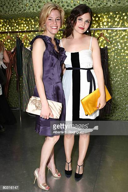 Actresses Elizabeth Banks and Ginnifer Goodwin wearing Prada attends the Los Angeles screening of Trembled Blossoms presented by Prada on March 19...