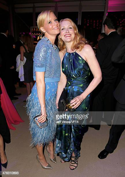 Actresses Elizabeth Banks and Patricia Clarkson attend the 2014 Vanity Fair Oscar Party Hosted By Graydon Carter on March 2 2014 in West Hollywood...