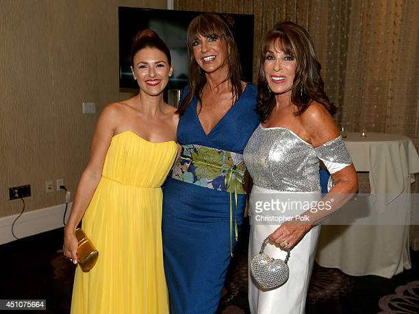 Actresses Elizabeth Hendrickson Jess Walton and Kate Linder attend The 41st Annual Daytime Emmy Awards at The Beverly Hilton Hotel on June 22 2014 in...