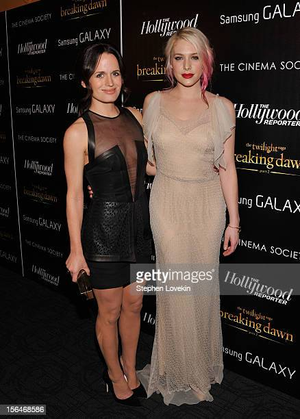 Actresses Elizabeth Reaser and Casey LaBow attend The Cinema Society with The Hollywood Reporter Samsung Galaxy screening of 'The Twilight Saga...