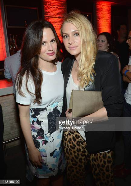 Actresses Elizabeth Reaser and Casey LaBow attend 'The Twilight Saga Breaking Dawn Part 2' VIP ComicCon Celebration Sponsored by Fandango at Float in...