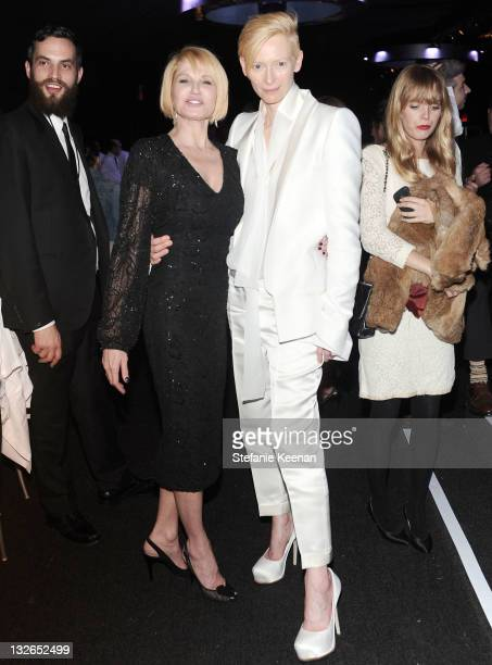 Actresses Ellen Barkin and Tilda Swinton attends 2011 MOCA Gala An Artist's Life Manifesto Directed by Marina Abramovic at MOCA Grand Avenue on...