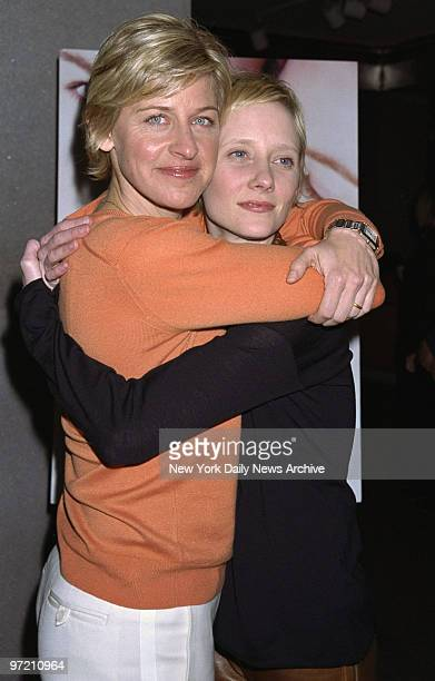 "Actresses Ellen DeGeneres and Anne Heche embrace at the premiere of the TV movie ""If These Walls Could Talk 2"" at the Museum of Modern Art. Degeneres..."