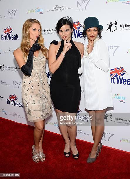Actresses Ellen Hollman Katrina Law and Cynthia AddaiRobinson arrive at the 'Downton Abbey' Britweek celebration at the Fairmont Miramar Hotel on May...