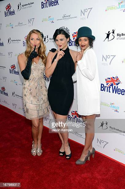 Actresses Ellen Hollman Katrina Law and Cynthia AddaiRobinson attend BritWeek Celebrates Downton Abbey at The Fairmont Miramar Hotel on May 3 2013 in...