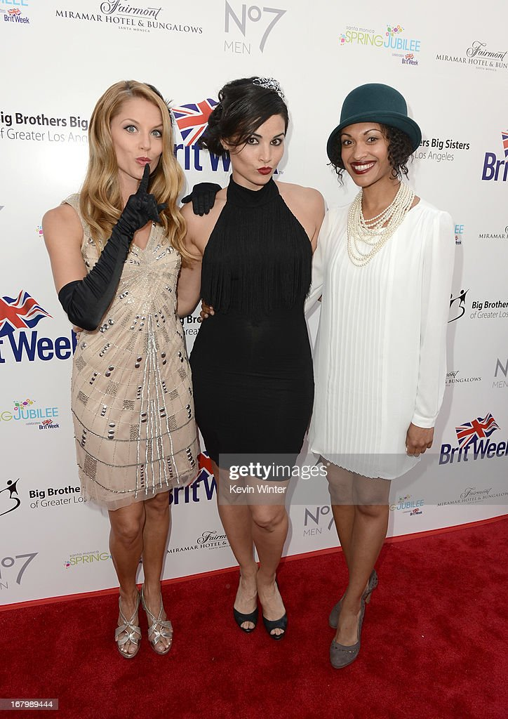 Actresses Ellen Hollman, Katrina Law and Cynthia Addai-Robinson attend BritWeek Celebrates Downton Abbey at The Fairmont Miramar Hotel on May 3, 2013 in Santa Monica, California.