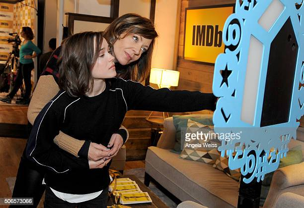Actresses Ellen Page and Allison Janney in The IMDb Studio In Park City Utah Day Three on January 24 2016 in Park City Utah