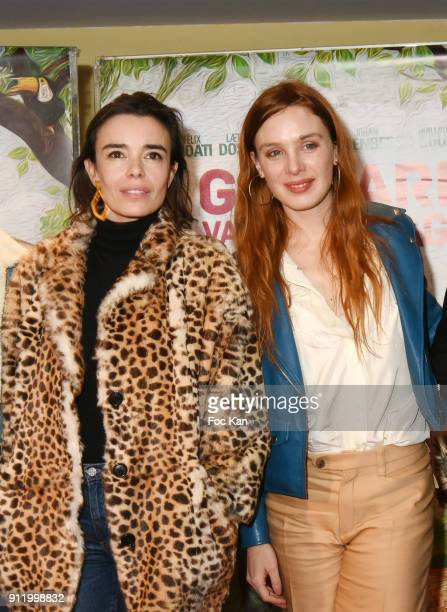Actresses Elodie Bouchez and Laetitia Dosch attend the 'Gaspard va au mariage' premiere at UGC Cine Cite des Halles on January 29 2018 in Paris France