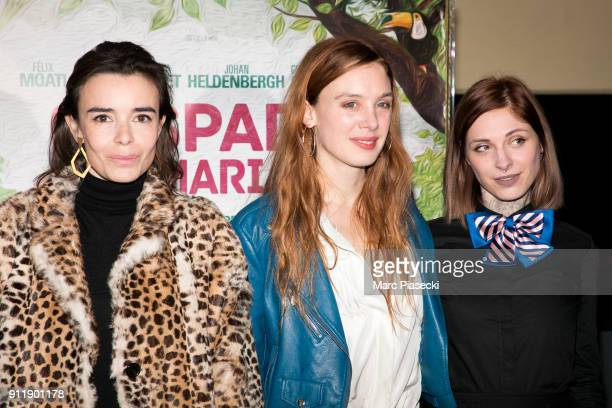 Actresses Elodie Bouchez Laetitia Dosch and Noemie Alazard attend the 'Gaspard va au mariage' Premiere at UGC Cine Cite des Halles on January 29 2018...