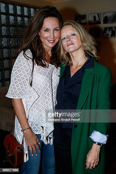 Actresses Elsa Zylberstein and Laure Marsac attend the 'Cezanne et Moi' Premiere on September 5 2016 in Paris France