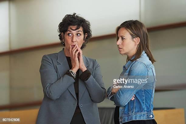 "Actresses Elvira Minguez and Marta Etura attend ""El Guardian Invisible"" photocall during 64th San Sebastian Film Festival at Kursaal Palace on..."