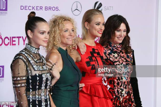 Actresses Emilia Schuele Katja Riemann Caro Cult and Iris Berben attend the 'High Society' Germany premiere at CineStar on September 5 2017 in Berlin...
