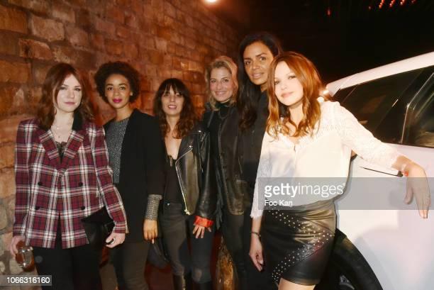 Actresses Emilie Dequenne, Aurelie Konate, Zoe Tellier, TV presenters Christine Lemler, Laurence Roustandjee and Severine Ferrer attend 'Range Rover...