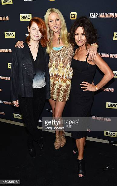 Actresses Emily Beecham Ellen Hollman and Orla Brady attend AMC ET And Tumblr's Fear The Walking Dead Event during ComicCon International 2015 on...