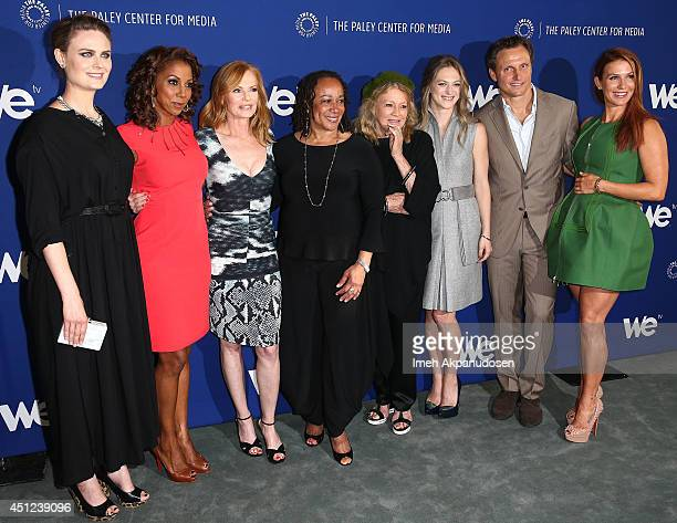 Actresses Emily Deschanel Holly Robinson Peete Marg Helgenberger S Epatha Merkerson Angie Dickinson Marin Ireland director/actor Tony Goldwyn and...