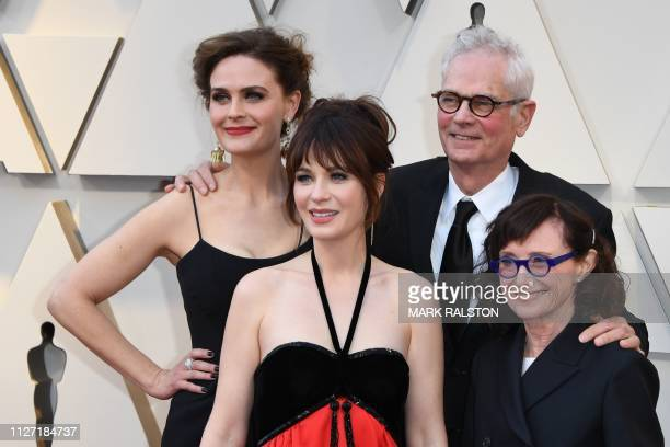 US actresses Emily Deschanel Zooey Deschanel Best Cinematography nominee for Never Look Away Caleb Deschanel and wife actress Mary Jo Deschanel...
