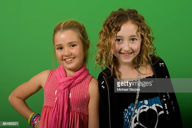 Actresses Emily Grace Reeves and Noah Cyrus attend the Rockin Valentine Teen Celebrity Bash at a Private Residence on February 7 2009 in Beverly...