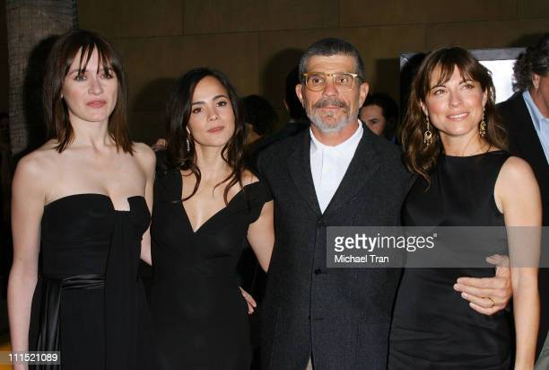Actresses Emily Mortimer Alice Braga writer/director David Mamet and actress Rebecca Pidgeon arrive at the Los Angeles special screening of Redbelt...