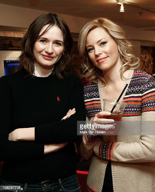 Actresses Emily Mortimer and Elizabeth Banks attend the Variety Studio at Sundance on January 23 2011 in Park City Utah