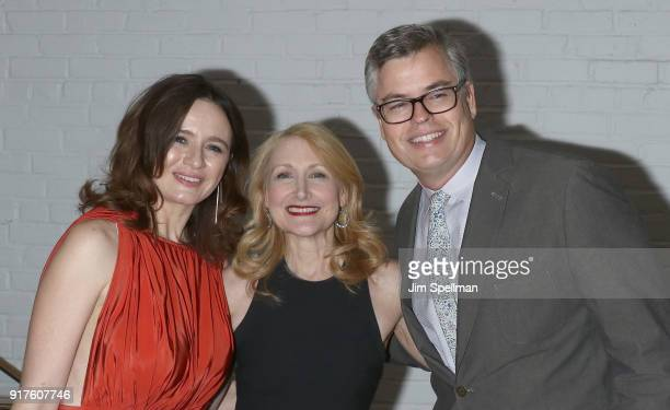 Actresses Emily Mortimer Patricia Clarkson and Eric d'Arbeloff attend the screening after party for 'The Party hosted by Roadside Attractions and...