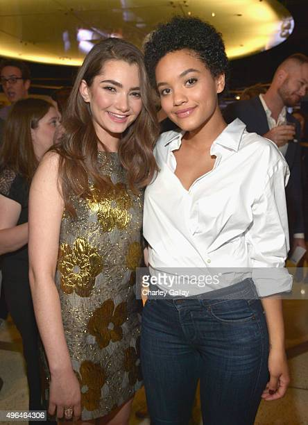 Actresses Emily Robinson and Kiersey Clemons attend the Red Carpet Premiere Screening For Season Two Of MultiGolden Globe And Emmy AwardWinning...