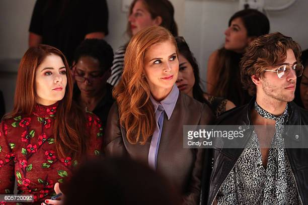 Actresses Emily Tremaine Sarah Rafferty and guest attend the Georgine fashion show during New York Fashion Week September 2016 at The Gallery...