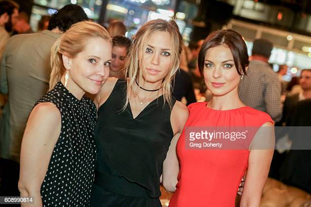 Actresses Emma Caulfield Aqueela Zoll and Vlada Verevko pose for pictures as they attend the Premiere Of Studio 71's 'Rush Inspired By Battlefield'...
