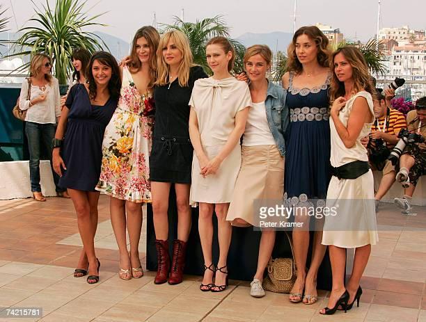 Actresses Emma de Caunes Marina Hands Emmanuelle Seigner Anne Consigny MarieJosee Croze Olatz Lopez Garmendia and Agathe de La Fontaine attend a...